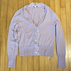 2 for $15 Merino/Silk ruffle cardigan